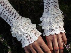 Wedding Ivory Edwardian Cuffs To be a steam punk Lady by domklary