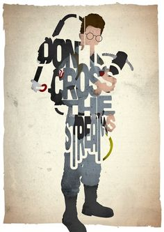 Egon Spengler typography print based on a quote from the movie Ghostbusters Art Print  Looks like he crossed the streams. Rip Spengler