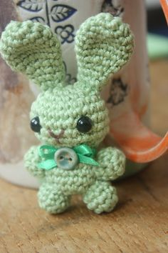 Amigurumi creations by Laura: Amigurumi Bunny Brooch Pattern and a free gift bag pattern