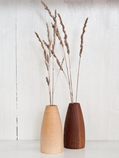 Weed Pot, Stick Pot, Wood Bud Vase, Wooden Vase, Mini Vase