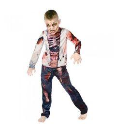 Ζόμπι στολή για αγόρια φαν των ταινιών τρόμου και των παιχνιδιών δράσης με νεκροζώντανους