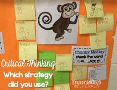 Teach Critical Thinking by having students apply reading strategies-great anchor chart!
