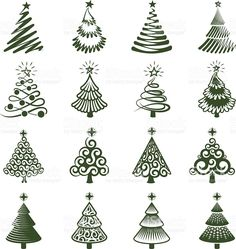 Christmas Trees icon Set Christmas Trees royalty free vector icon set Royalty Free christmas trees royalty free vector iconset stock vector art and more images of Abstract Christmas Drawing, Christmas Art, All Things Christmas, Christmas Holidays, Christmas Ornaments, Christmas Icons, Christmas Tress, Whimsical Christmas, Clay Christmas Decorations