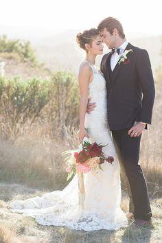 Boho Glam Wedding Portraits at Magic Hour | Carlie Statsky Photography | Luxe Bohemian Wedding in Jewel Tones