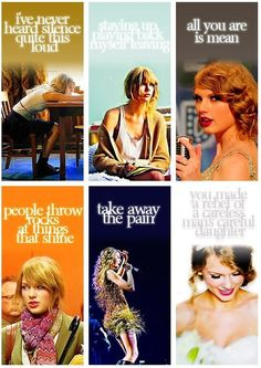 Taylor Swift music videos (Story of Us, Back to December, Mean, Ours, Sparks Fly, Mine)