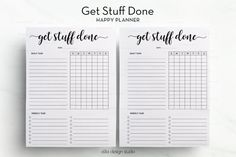 Get Stuff Done Happy Planner Task Tracker MAMBI Weekly