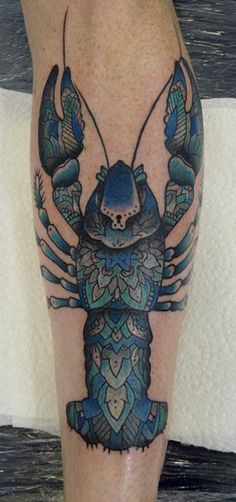 jason corbett lovely blue lobster tattoo