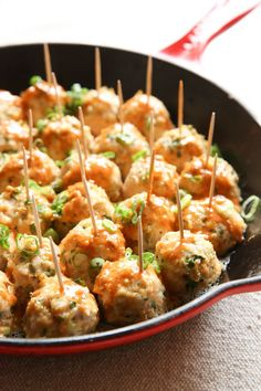 Buffalo Chicken Meatballs Vertical 65+ Healthy Dinner Ideas for Delicious Night & Get A Health Deep Sleep #healthydinner #dinnerrecipe #healthyrecipe #healthyfood #healthyfoodideas