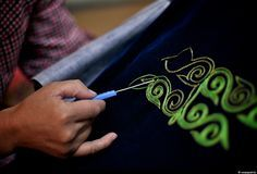 silk stich embroidery in Mongolia, Nomad kazakhs