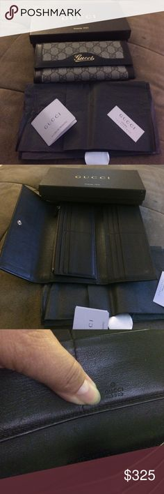 Gucci leather wallet Used good condition the corners  a little worn please no lowball Gucci Bags Wallets