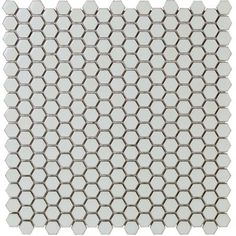 "SIMPLE RIMMED HEXAGON SAGESheet Size: 12"" x 12""Sheet Coverage: 1 sq. ft.Rows Per Sheet: 17Chip Size: .75"" HexThickness: 6 mmMaterial: CeramicSold by: Sheet"