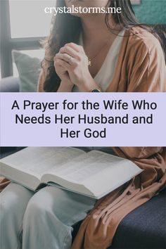 Do you long to be united with your husband? God gave us different strengths and weaknesses because we are better together. Crystal Storms shares A Prayer for the Wife Who Needs Her Husband and Her God | Christian Wife | Christian Marriage | Prayer