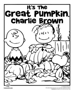 It's the Great Pumpkin Charlie Brown Coloring Pages | Cartoon Jr.