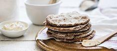 Ihanat jogurttiset ruisrieskat valmistuvat helposti. N. 0,10 €/annos. No Salt Recipes, Bread Recipes, Finnish Recipes, Bread Board, Rolls, Food And Drink, Lunch, Healthy Recipes, Eat