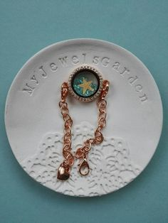 Real starfish rose gold bracelet