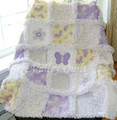 Prefringed cut  Rag Quilt KIT lavender and by skyvalleyquiltco, $74.99