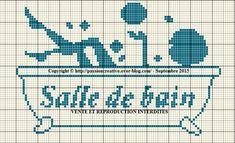 Grille gratuite point de croix : Salle de bain 1 - Le blog de Isabelle