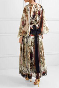 Dolce & Gabbana   Wrap-effect printed silk-chiffon maxi dress   NET-A-PORTER.COM