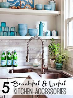 5 Beautiful & Useful Kitchen Accessories via tipsaholic.com. Keep your kitchen beautiful and resourceful with tips. #kitchen