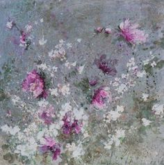 Beautiful impressionistic oil of flowers