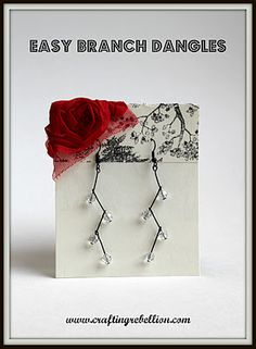 Easy Branch Dangle Earrings. I might try this!