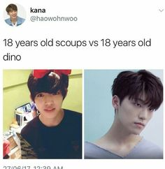 Straight up noona-bait Dino << Hot damn.......  That is why I'm confused.......