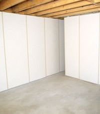 Unfinished basement insulated wall covering in Mead Idaho and Washington & Cheap and easy way to fabric unfinished basement walls | new house ...