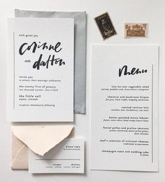 ----------------------------- Original Pin Caption: minimal invitation suite with gorgeous hand-lettering inspiration Wedding Invitation Inspiration, Modern Wedding Invitations, Wedding Invitation Design, Wedding Stationary, Invitation Suite, Invitation Cards, Event Invitations, Wedding Programs, Wedding Inspiration