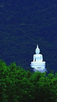 Buddha Statue in Forest Pak Chong, Thailand. http://www.thailandcarsrentals.com