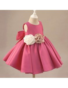 Shop Fuchsia Satin Classic Flower Girl Dress Elegant With Flowers And Bow online. Super cute styles with couture high quality. Toddler Flower Girl Dresses, Toddler Girl Dresses, Little Girl Dresses, Lilac Flower Girl Dresses, Princess Flower Girl Dresses, Girls Pageant Dresses, Wedding Dresses For Girls, Prom Dresses, Bridesmaid Dresses