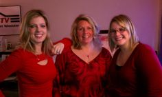 National Wear Red Day for American Heart Association with Jewels 'N General crew.