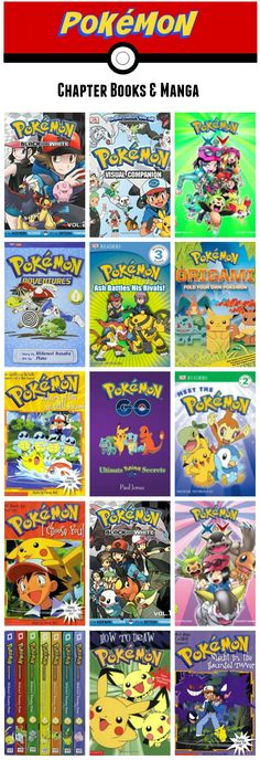 Pokemon chapter books and manga kids will love! These books are perfect for…