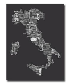 ebd66b0351a Loving this Italy Text Map V Gallery-Wrapped Canvas on  zulily!  zulilyfinds
