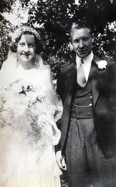 Vintage Photo..Happy Bride and Groom 1930's, Original Photo, Old Photo Snapshot…