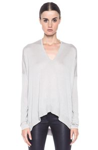HELMUT Helmut Lang Lux Wide Hem Pullover in Gray
