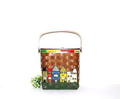 Vintage Purse City Basket by CheekyVintageCloset on Etsy, $32.00