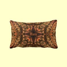 http://www.zazzle.com/harlequin_kaleidoscope_warm_tones_pillow-189861659878398960?gl=Rosemariesw=13x21=238739306683447883 digital art kaleidoscope design in warm gold orenge and brown tones. Personalize the center of this design with a name or initialed monogram.
