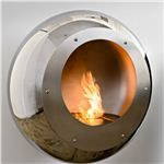 Vellum Stainless Steel Fireplace
