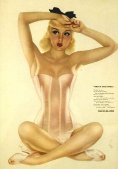 Alberto Vargas - PinUp Corset Girl This has been one of my favorite Vargas girls