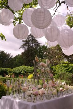 Round hanging nylon lanterns available with or without battery-powered LED light. May be hung in conjunction with pealights, festoons or filament light bulbs. White Paper Lanterns, Hanging Lanterns, Wedding Venues Uk, Wedding Events, Northbrook Park, Lantern Designs, How To Make Lanterns, Festival Wedding, Park Weddings
