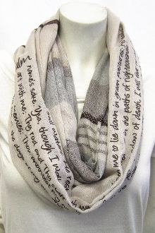 #Psalm 23 Striped #InfinityScarf #Godinspiredfashion