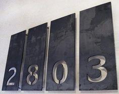 Aligned Single Number Address Plaques: Gardenista