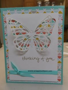 I'm getting this butterfly from Stampin' Up and I'm going to make this one. So pretty