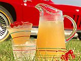 Kentucky Lemonade:  for a pitcher, start with one can lemonade concentrate, then fill that can with whiskey and add. add ice then fill pitcher with lemon-lime soda.  maraschino cherries for garnish.  awesome.