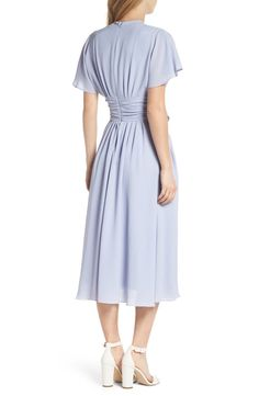 Gal Meets Glam Collection Jane Tie Waist Midi Dress (Nordstrom Exclusive)   Nordstrom