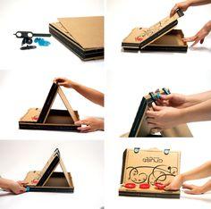 How To Make: Pizza Box Easel | Makedo