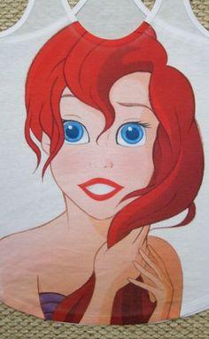 Ariel The Little Mermaid Disney Urban Tank Top Forever 21 Sold Out RARE XXL 2X   eBay $50