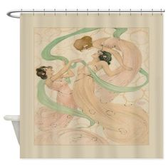Vintage French Dancing Women Shower Curtain on CafePress.com