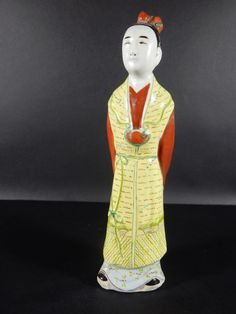 Antique Chinese Famille Rose Statue 10 1/4 inches