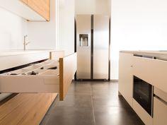 design › Gesamtkonzept MG Kitchen Cabinet Door Styles, Cabinet Doors, Kitchen Cabinets, Küchen Design, Washing Machine, Home Appliances, Fitted Kitchens, Projects, Home Decor